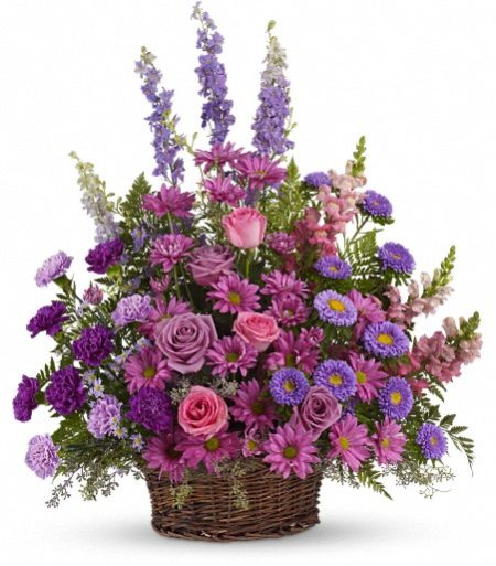 Gracious Lavendar Basket from Manteca Floral