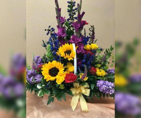 Custom Garden Basket at Manteca Floral