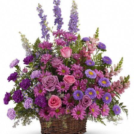 Gracious Lavendar Basket from Manteca Floral